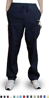 Pant 6 Pocket 2 side pocket 2 cargo pocket with cell phone pocket 1 back pocket half elastic waistband Unisex