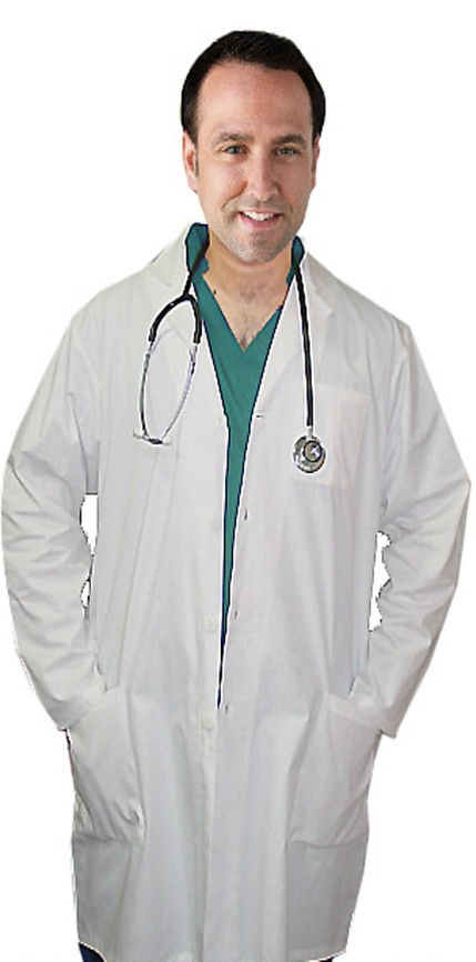 Microfiber labcoat unisex full sleeve with snap buttons 3 pockets solid pleated (100% perc polyester)  available in 36 38 40 42  inch lengths