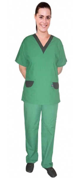SCRUB SET 2 POCKET NORMAL UNISEX SOLID HALF SLEEVE (TOP 1 POCKET WITH BOTTOM 1 POCKET)