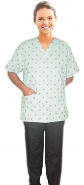 SCRUB SET 3 POCKET NORMAL LADIES SOLID HALF SLEEVE (2 pocket top 1 pocket pant)