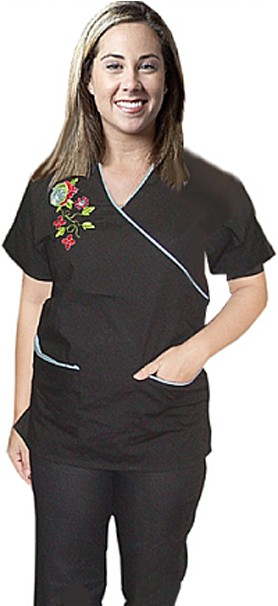 SCRUB SET 4 POCKET SOLID LADIES HALF SLEEVE (2 POCKET TOP AND 2 POCKET PANT)