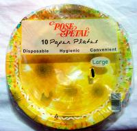 Rose Petal 10 Paper Plates